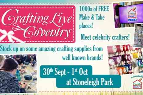 Craft Channel Productions - Two tickets to Crafting Live Coventry on 30 September To 1 October - Save 40%