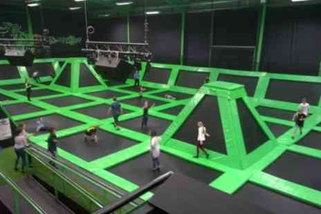 Flip Out Portsmouth - One Hour or Weekday Access to Jump Sessions for One, Two or Four - Save 25%