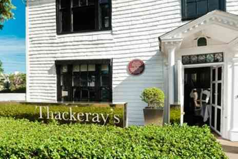 Thackerays Restaurant - 3 AA Rosette Dinner with Champagne & Coffee in Kent - Save 35%