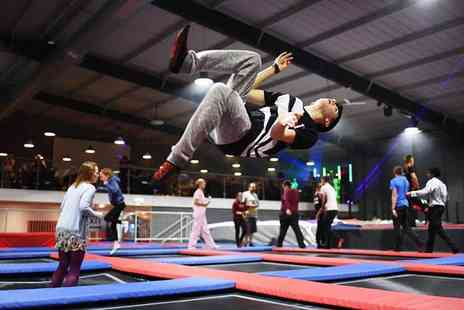 Energi Trampoline Parks - One hour entry to Energi Newport Trampoline Park with grip socks and a drink for one person - Save 57%