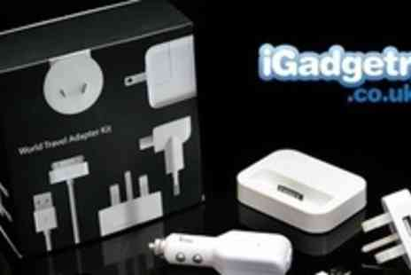 iGadgetry.co.uk - An iPhone Travel Charging Kit With 6 in 1 Adapter - Save 75%