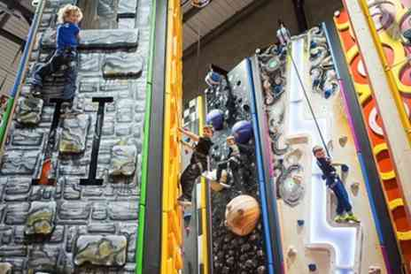 Grip and Go - Climbing Wall Access for a Child, One or Two Adults, or a Family of Up to Four - Save 44%