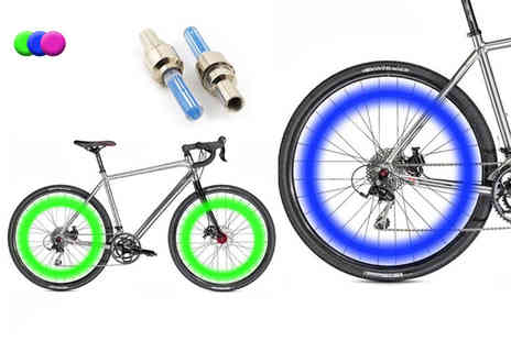 Heads Group - Two LED bicycle wheel lights - Save 80%
