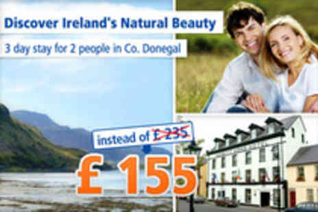 Nesbitt Arms Hotel - Irish charm in Ardara & Donegal for 3 days for 2 - Save 34%