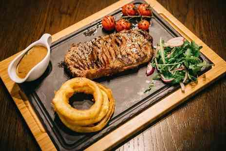 Solo Restaurant - 8oz rump steak dinner for two with a salad, and a side dish - Save 54%