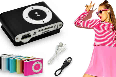 HK Betty Technology Co - Portable Mini Clip MP3 Player Available in Five Colours - Save 83%