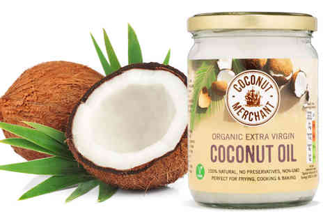 Coconut Merchant - 500ml Jar of Organic Raw Extra Virgin Coconut Oil - Save 43%