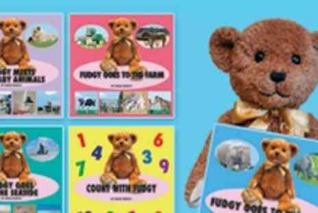 Fudgy Bear Books - Fudgy Bear childrens book bundle includes Fudgy Bear himself - Save 54%