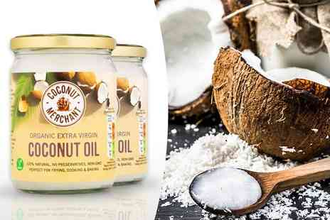 Coconut Merchant - 500ml jar of organic raw extra virgin coconut oil - Save 61%