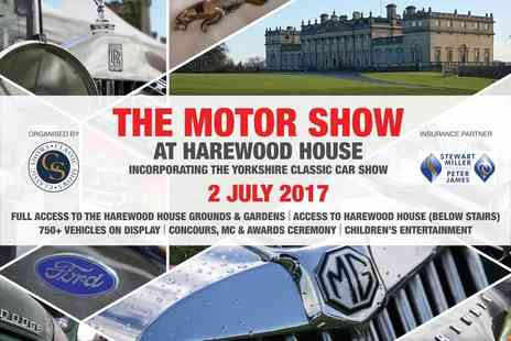 Maple Events - Two tickets to the Motor Show on Sunday 2nd July 2017 - Save 40%
