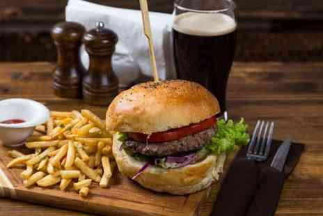 Market Street Brasserie - Burger with fries and onion rings - Save 50%