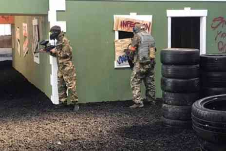 District 23 Billingham - Three Hour Indoor Paintballing with 100 Balls Each for Five or Ten - Save 96%
