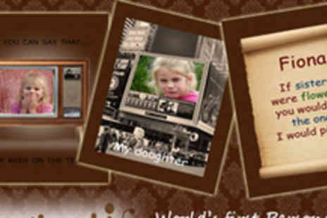 Chocmotif - Create your own Personalised Chocolate Greetings Card - Save 50%