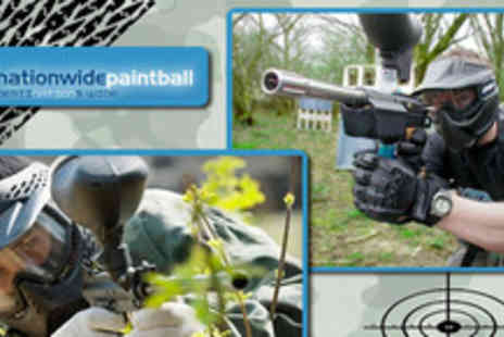 Nationwide Paintballing - Nationwide Paintballing including 100 paintballs per person. Pay just £8 for a team of 5 people - Save 92%
