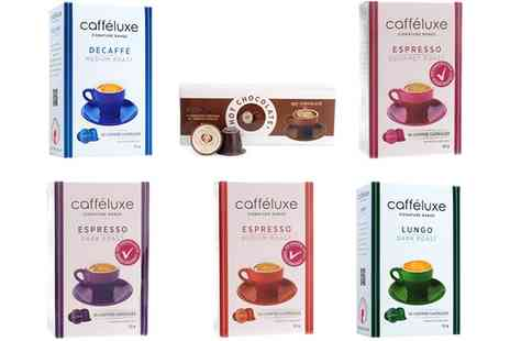 Groupon Goods Global GmbH - 120 Assorted Cafe Luxe Nespresso Compatible Coffee and Hot Chocolate Capsules - Save 5%