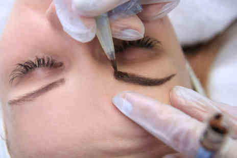 Dermalaze Harley Street - Semi permanent microblading eyebrow treatment - Save 75%