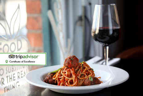 Don Vitos - Pizza, pasta or risotto main and a glass of wine each for two - Save 46%