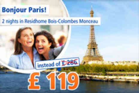 Residhome Bois - 2 nights for 2 people in Paris - Save 58%