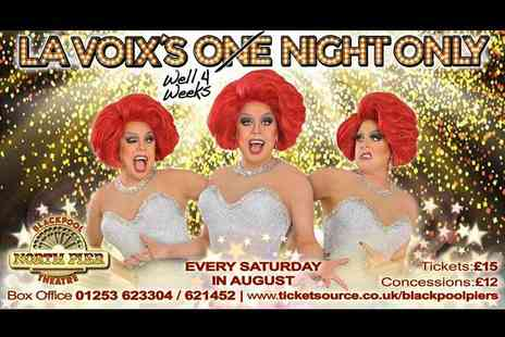 The Carousel Pier - Two tickets to La Voix live tickets on 5th, 12th, 19th or 26th Aug 2017 - Save 53%