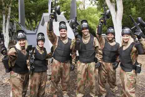 Delta Force Paintball - Paintball with Lunch and 100 Paintballs for Five, 10 or 15 - Save 95%