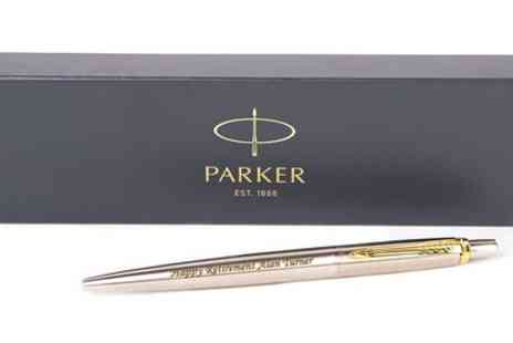 Wright Products - Personalised Gold Trim Parker Pen - Save 63%