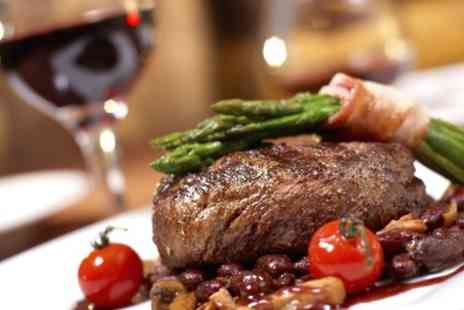 Gareth Cox - Sirloin Steak with Bottle of Wine to Share for Two - Save 57%