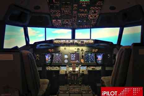 iPilot - 20 mins Boeing 737 flight simulation experience or 30 mins or a 60 mins shared flight - Save 53%