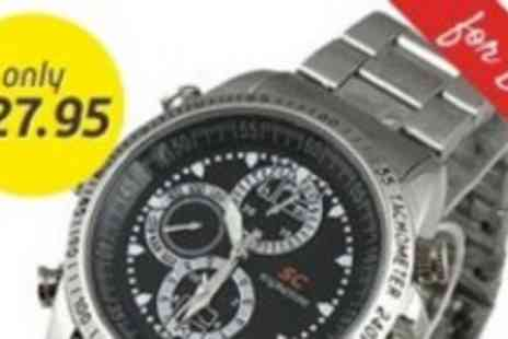 Led Hut - 4gb Spy Watch With Built In Camera - Save 44%