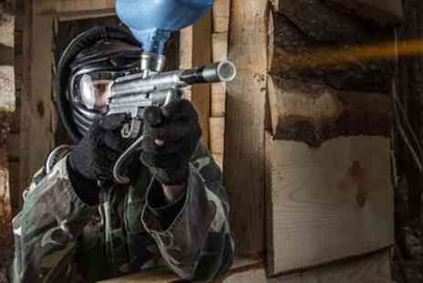 Driver Wood Paintball - Paintball Session with 100 Paintballs and Hot Lunch for Five or 10 - Save 90%
