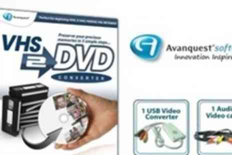 Avanquest - VHS to DVD Conversion Software and Cable - Save 95%