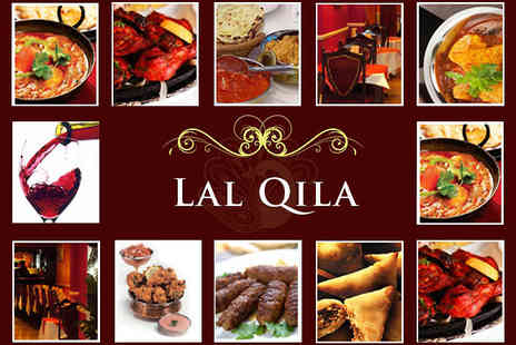 Lal Qila - Indian Fare for Two Including Starter, Main, Rice or Naan, and Glass of Wine - Save 61%