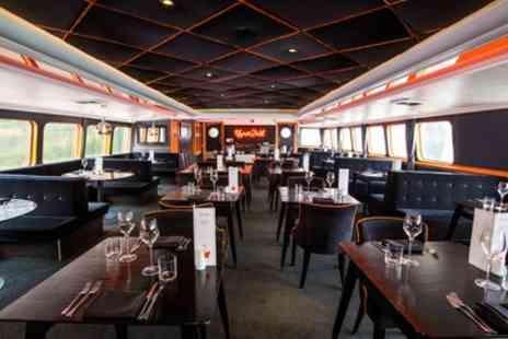 R.S. Hispaniola - Three Course Meal with Prosecco and Thames Cruise Tickets for Two or Four - Save 57%