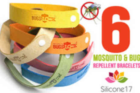 Silicone 17 - Keep the bugs at bay with six mosqito repelling bracelets - Save 78%