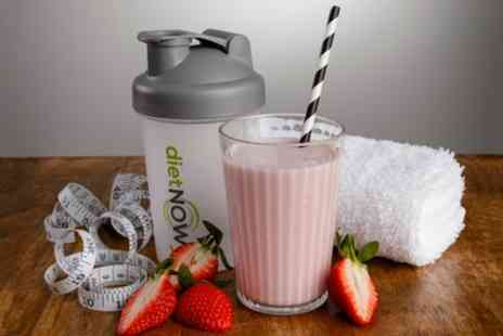 Groupon Goods Global GmbH - Diet Now Four Week Meal Replacement Shakes Pack with Shaker and Diet Guide - Save 44%