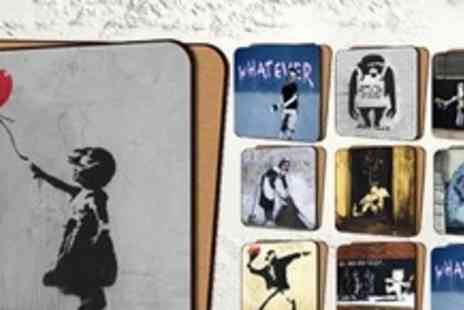 Canvas Town - 10 Banksy Print Coasters - Save 60%