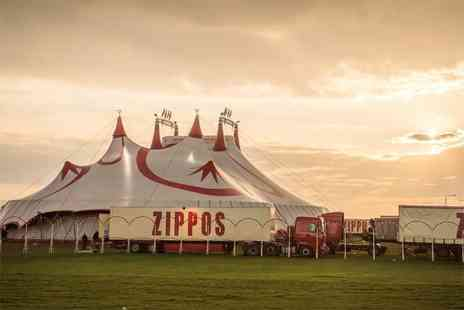 Zippos Circus - Side view ticket to see Zippos Circus with popcorn - Save 53%