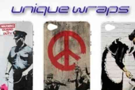 Unique Wraps - Two Banksy print iPhone skins - Save 58%