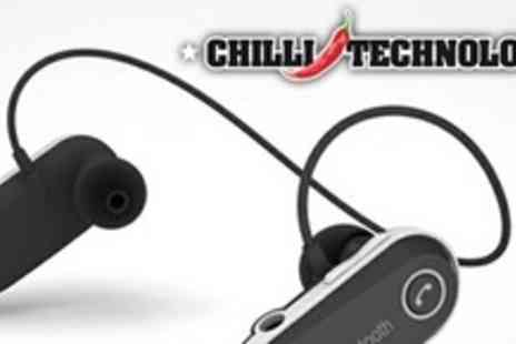 Chilli Technology - Two Sets of Bluetooth Headphones With BuiltIn Mic - Save 59%