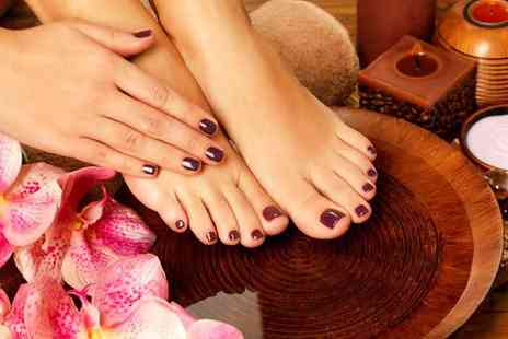 For Him & Her Beauty Clinic - Shellac gel manicure or gel pedicure or both - Save 64%
