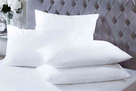 Omeco Limited - Four duck feather hotel quality pillows - Save 85%