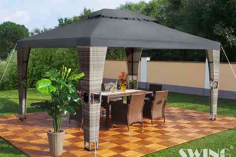 EveMotion GmbH - Royal rattan pavilion select from six colours - Save 63%