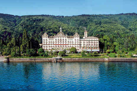 Grand Hotel Des Iles Borromees - Five Star Luxury Lake side Spa Hotel Stay For Two - Save 28%
