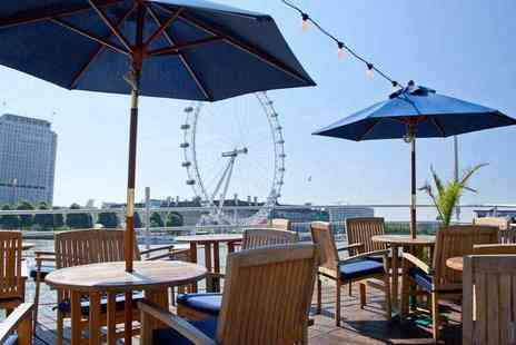 R S Hispaniola - Two course meal with Prosecco for two and a River Red Rover ticket - Save 54%