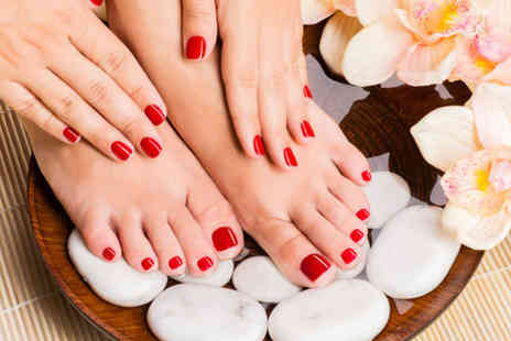 Scissorz Hair & Beauty - Shellac manicure or pedicure - Save 40%