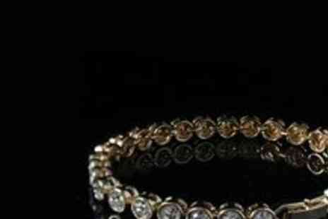 Gifts4u - Gold or Rose Gold Plated Tennis Bracelet - Save 77%