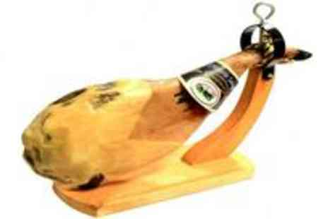 Monte Regio - 4-5kg Distina Jabugo shoulder of ham with specialised cutting knife and ham holder - Save 59%