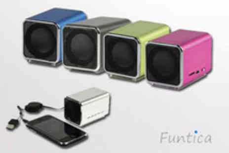 Funtica.com - Portable USB speaker in your choice of 5 colours - Save 52%