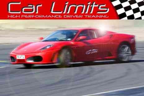 Car Limits - Supercar Track Session With Nine Laps in Three Cars of Choice - Save 70%