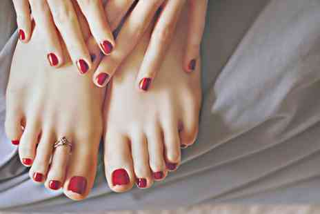 Enrich Beaut - Manicure or Pedicure with Gel Polish or a Mani Pedi with Gel Polish on Hands or Feet - Save 69%