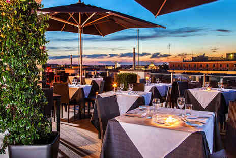 La Griffe Roma - Five Star Rooftop City Views Stay For two from a Luxury Design Hotel - Save 80%